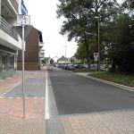 fußgänger- und fahrradfreundlich umgestalteter Rutenwallweg (nachhher)
