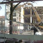 Blick aus Projektbüro auf Abriss