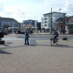 Konflikte zwischen Fußgängern und Radfahrern